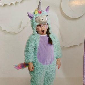 Dress up unicorn furry llama like animal NWT